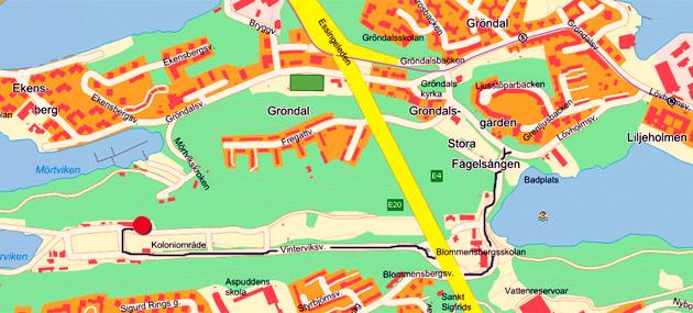 Winterviken - karta